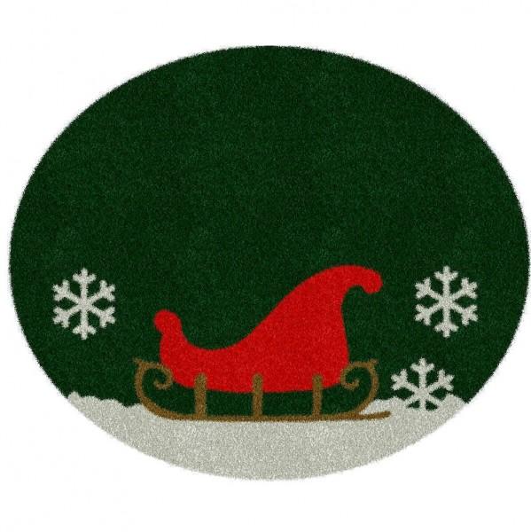 Weihnachtsbaumdecke 'Schlitten' 150cm