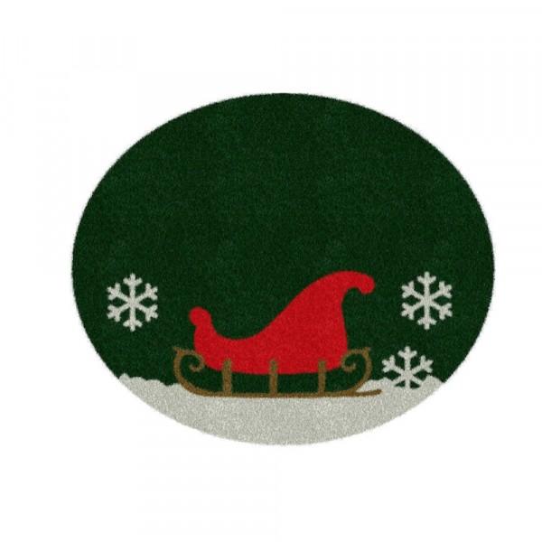 Weihnachtsbaumdecke 'Schlitten' 100cm
