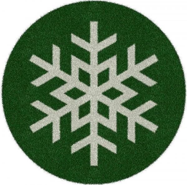 Weihnachtsbaumdecke 'Schneeflocke' 150cm